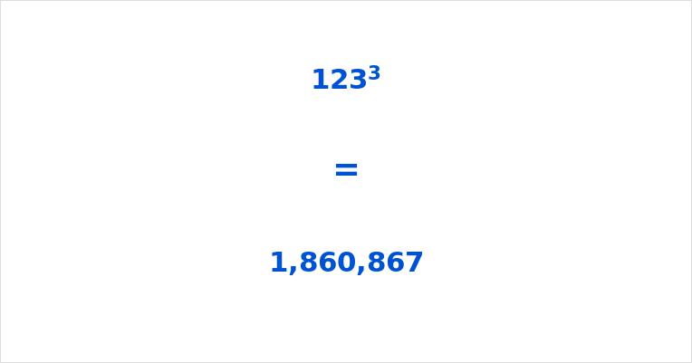123 Cubed