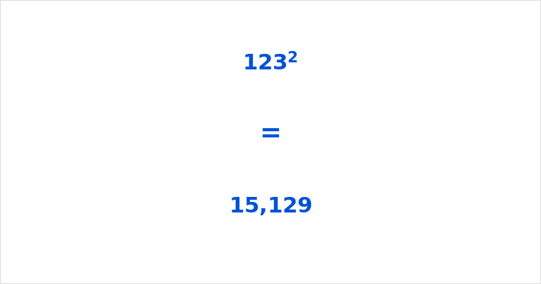 123 Squared