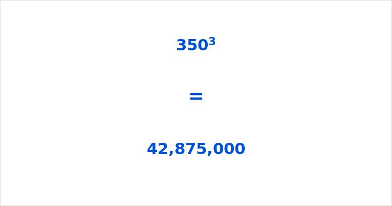 350 Cubed