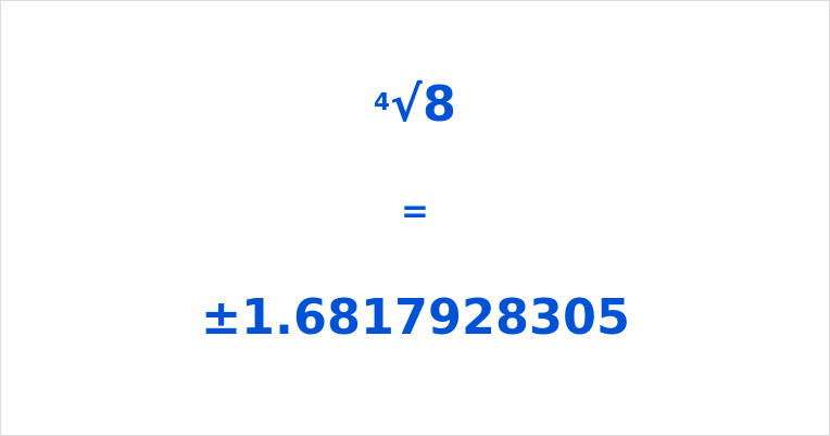 4th Root of 8