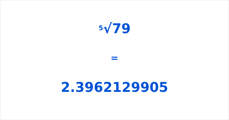 5th Root of 79
