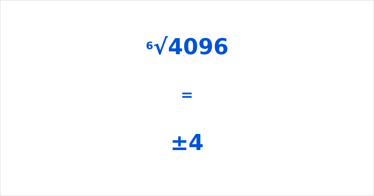 6th Root of 4096