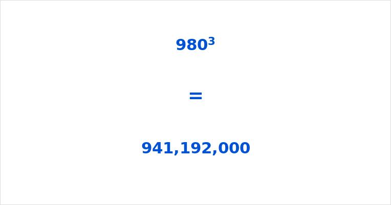 980 Cubed