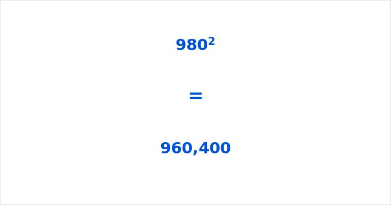 980 Squared