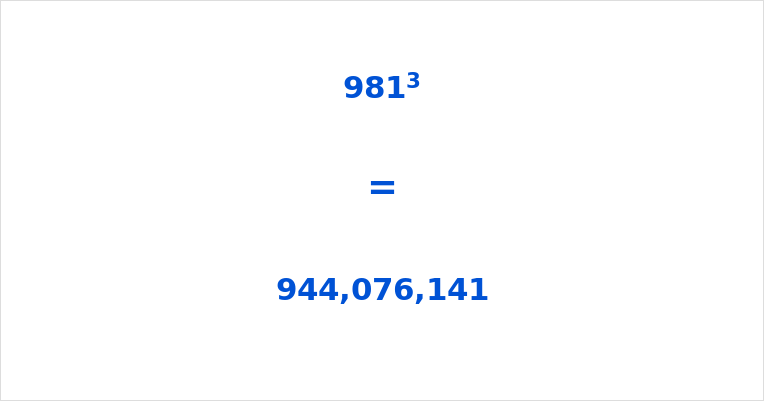 981 Cubed