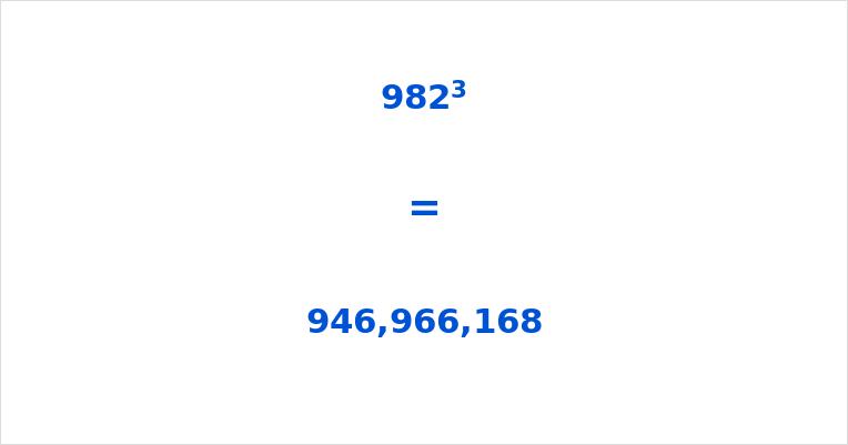 982 Cubed