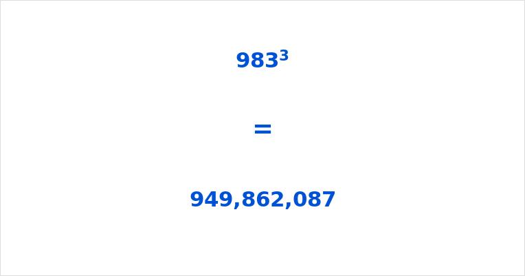 983 Cubed