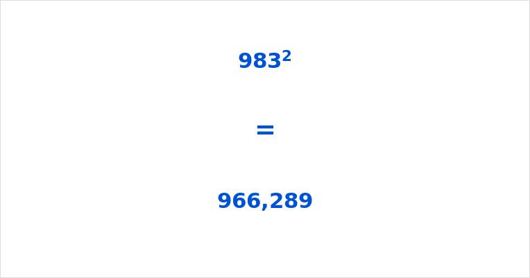 983 Squared