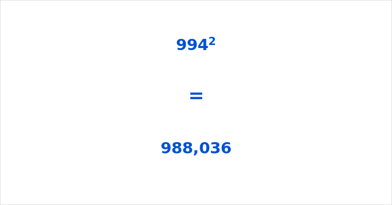 994 Squared