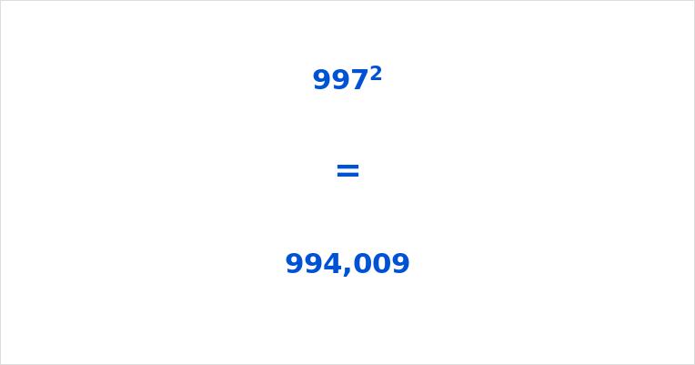 997 Squared