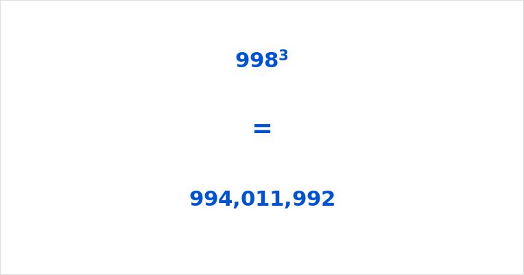 998 Cubed