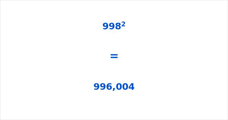 998 Squared