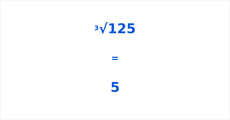 Cube Root of 125