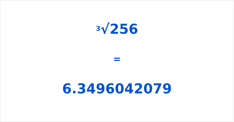 What Is The Cube Root Of 256