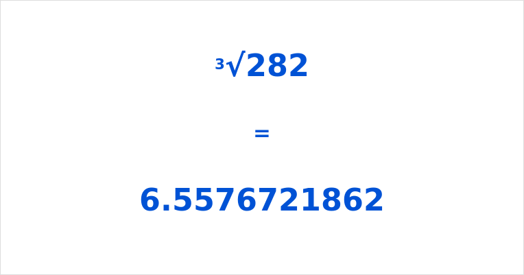 Cube Root of 282