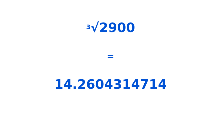 Cube Root of 2900