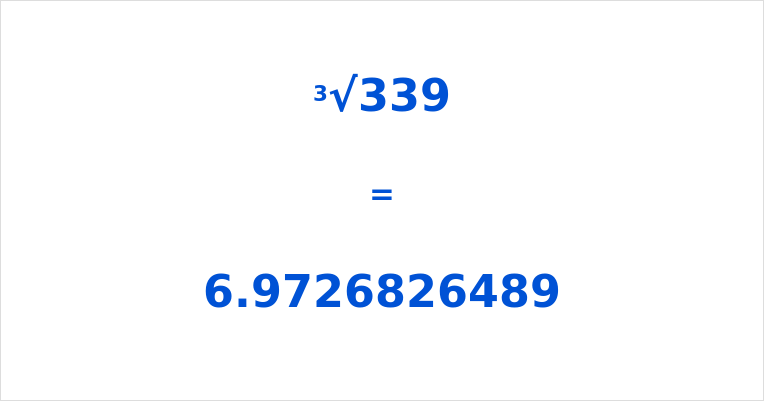Cube Root of 339