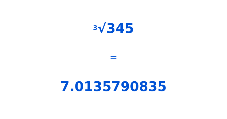 Cube Root of 345