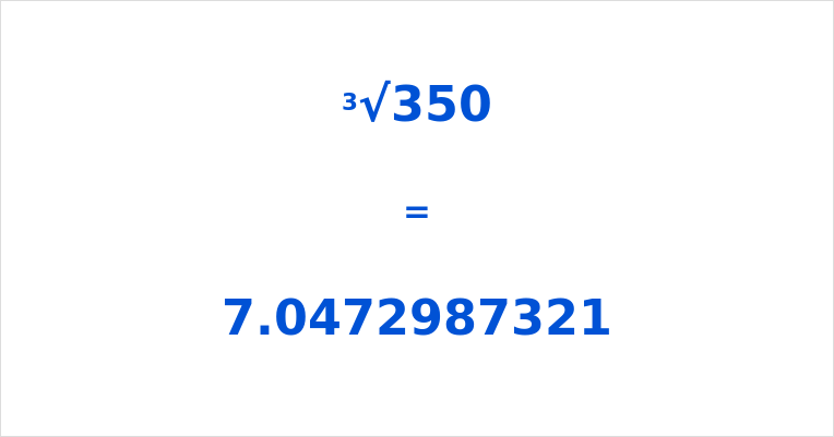 Cube Root of 350
