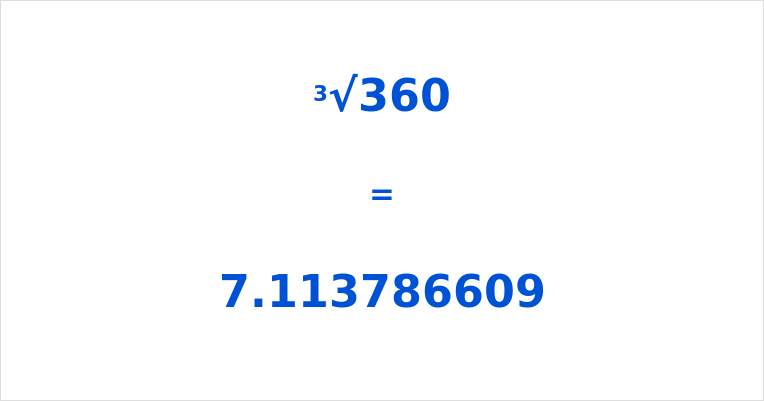 Cube Root of 360