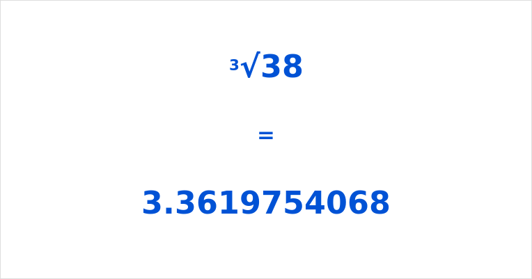Cube Root of 38