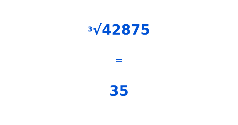 Cube Root of 42875