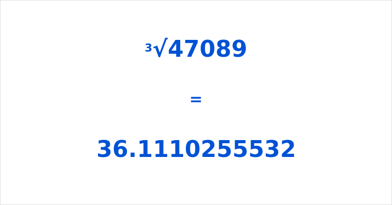 Cube Root of 47089