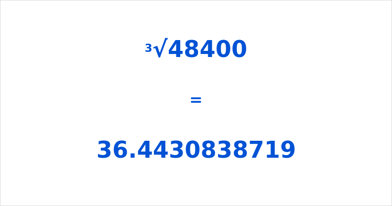 Cube Root of 48400