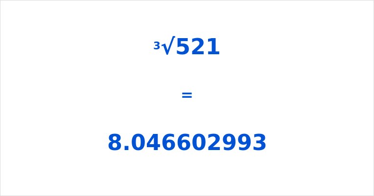 Cube Root of 521