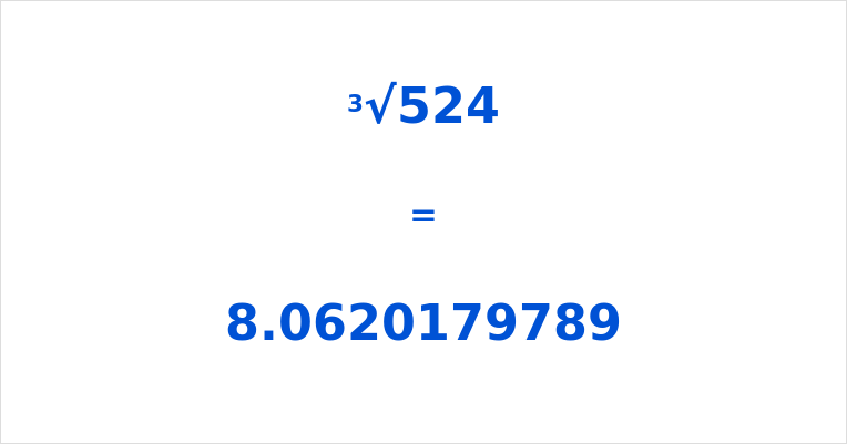 Cube Root of 524