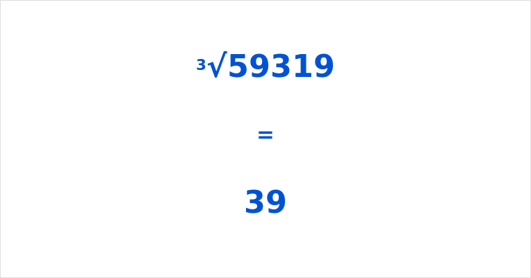 Cube Root of 59319