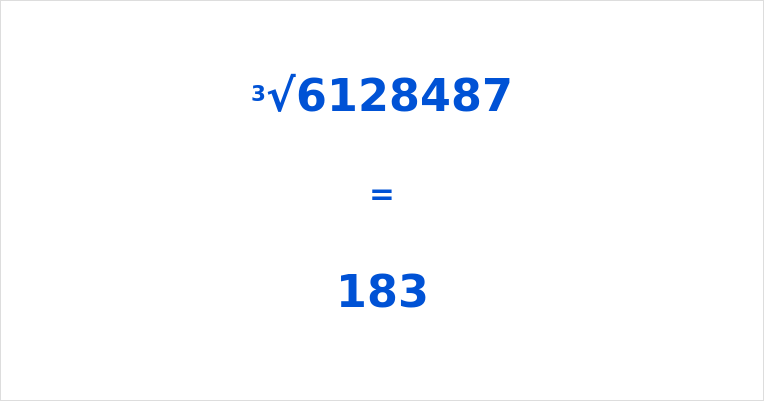 Cube Root of 6128487