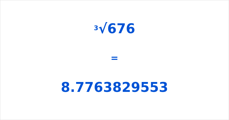 What Is The Cube Root Of 676