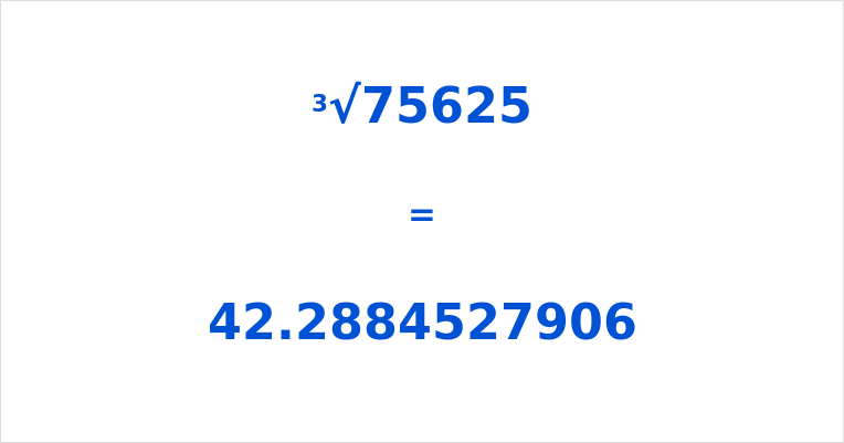 Cube Root of 75625