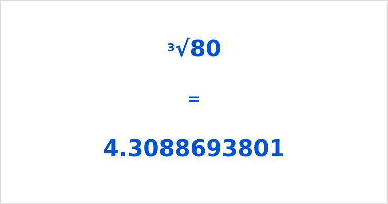 Cube Root of 80