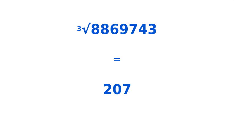 Cube Root of 8869743