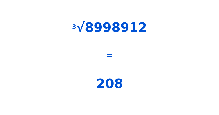 Cube Root of 8998912