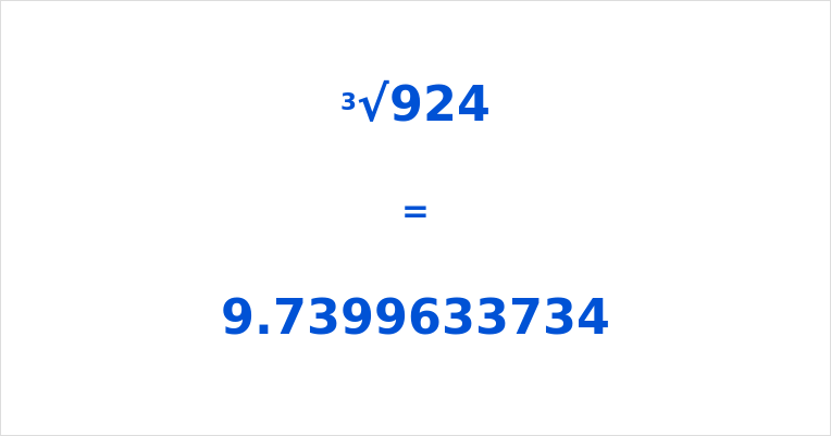 Cube Root of 924