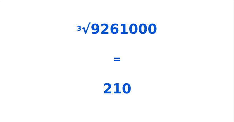 Cube Root of 9261000