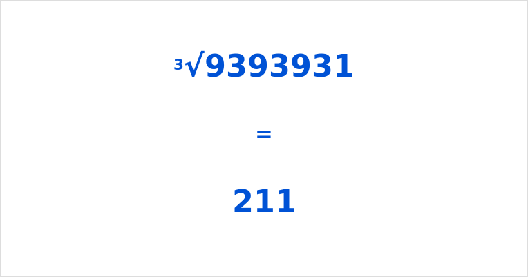 Cube Root of 9393931