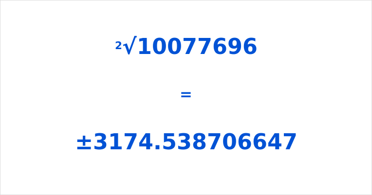 Square Root of 10077696