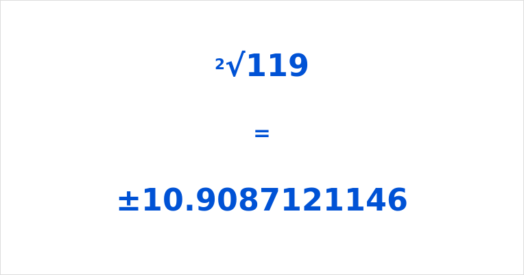 Square Root of 119