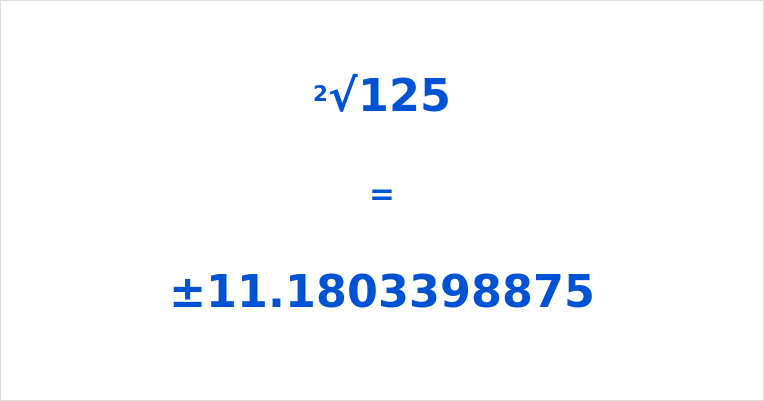 Square Root of 125