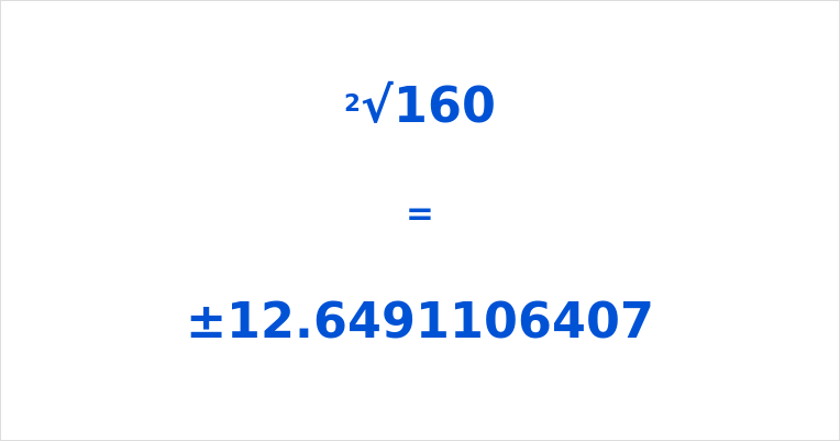 Square Root of 160
