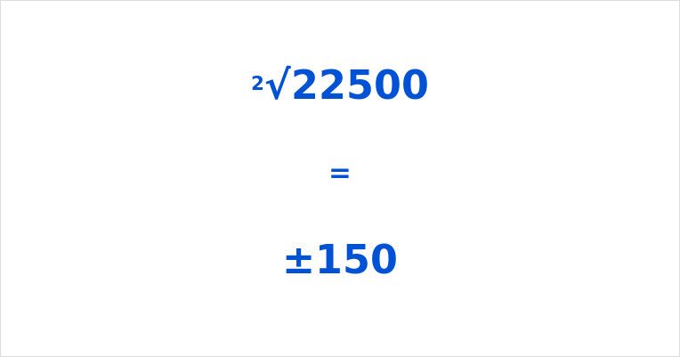 Square Root of 22500