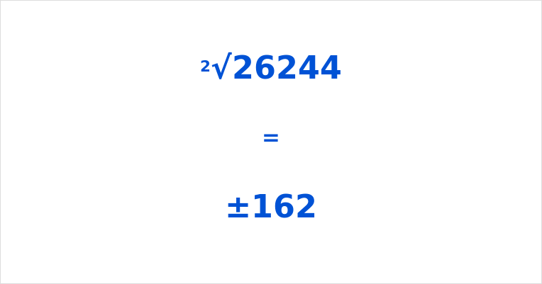 Square Root of 26244