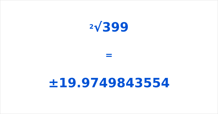 Square Root of 399