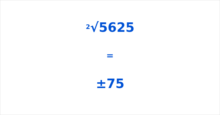 Square Root of 5625