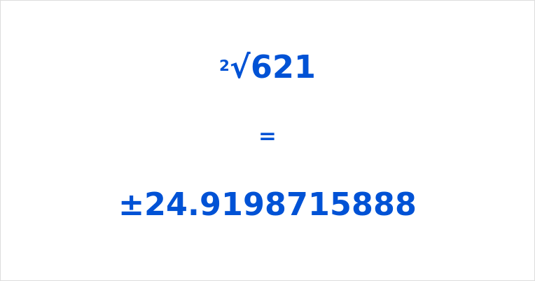 Square Root of 621