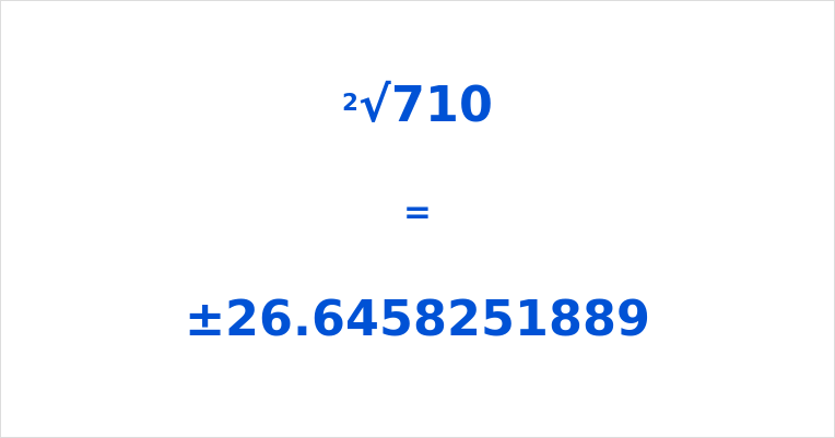 Square Root of 710